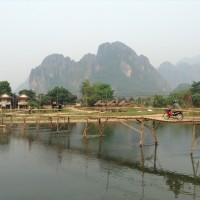 Sur la rive tranquille de Vang Vieng