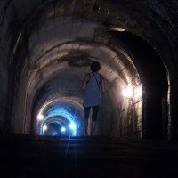 Le tunnel d'accès au volcan