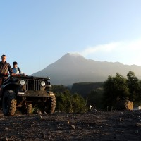 En jeep au Gunung Merapi