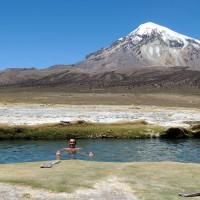 Un petit bain à 4 300 mètres d'altitude