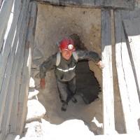 A la sortie de la mine