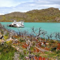 Avant d'embarquer sur le lac Pehoé