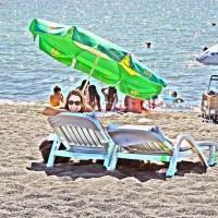 Petit farniente sur la plage de Púcon