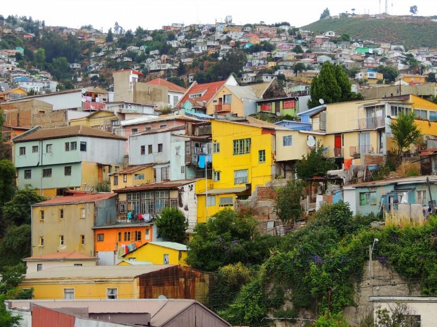 Sur les collines de Valparaiso