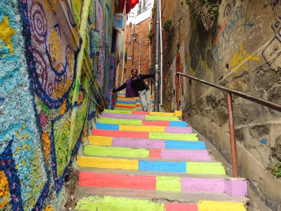 Promenade dans les ruelles de Valparaiso